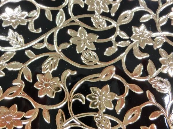 アンティーク花柄型押し加工 合皮生地